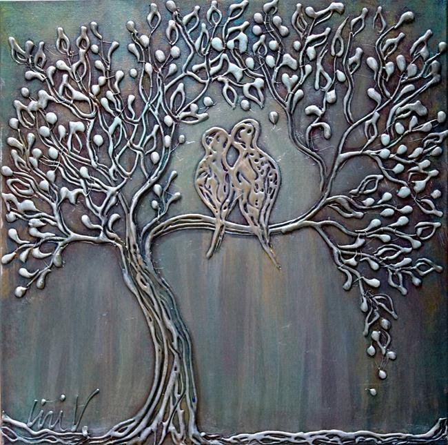 Art: MOON SERENADE by Artist LUIZA VIZOLI