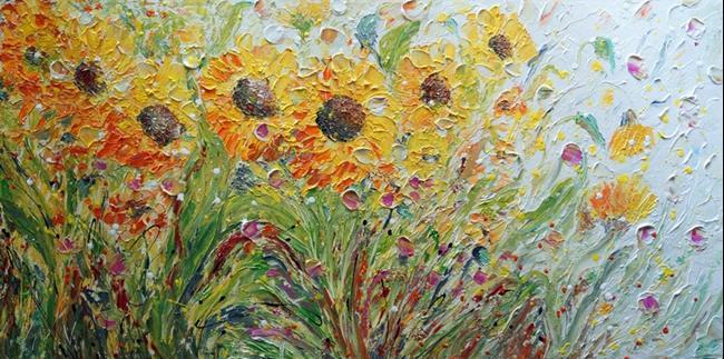 Art: Sunflowers Meadow by Artist LUIZA VIZOLI