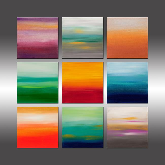 Art: Sunrise Series Collection 7 by Artist Hilary Winfield