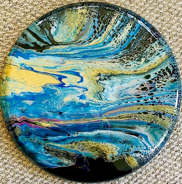Art: Fluid Art With Epoxy Resin Finish by Artist Ulrike 'Ricky' Martin