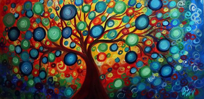 Art: INNER BEAUTY Tree of Life by Artist LUIZA VIZOLI