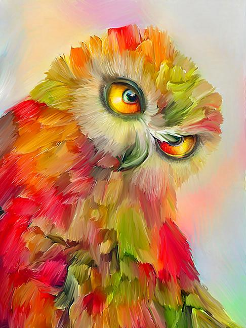Art: bright owl PRT FINAL lr by Artist Alma Lee