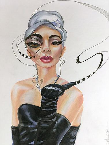 Art: lady Gaga lr by Artist Alma Lee
