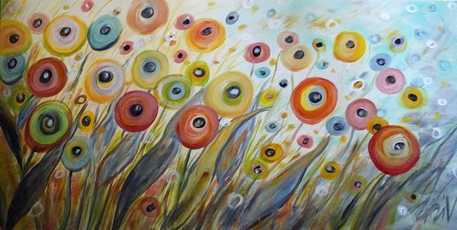 Art: SUMMER LIGHT and FLOWERS by Artist LUIZA VIZOLI