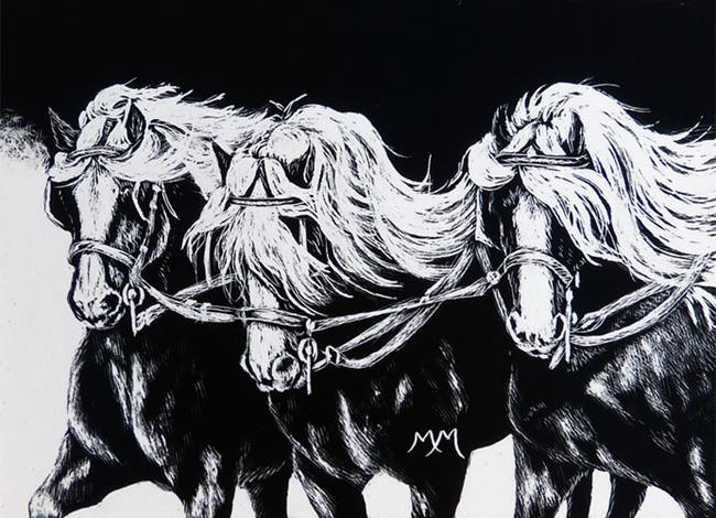 Art: Dashing  (SOLD) by Artist Monique Morin Matson