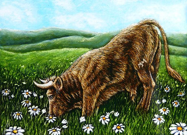 Art: Ferdinand  (SOLD) by Artist Monique Morin Matson