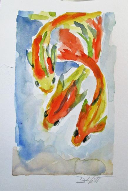 Art: Three Koi by Artist Delilah Smith