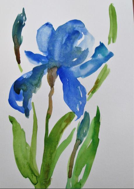 Art: Blue Iris by Artist Delilah Smith