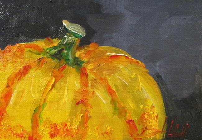 Art: Yellow Pumpkin by Artist Delilah Smith