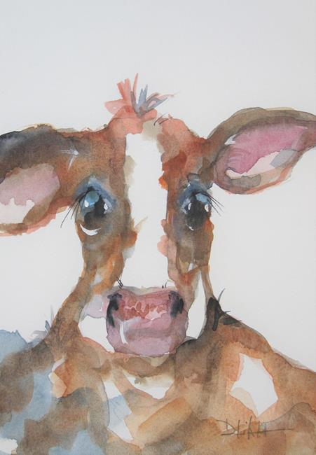 Art: Brown Cow No. 4 by Artist Delilah Smith