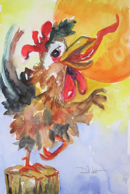 Art: Good Morning Rooster by Artist Delilah Smith