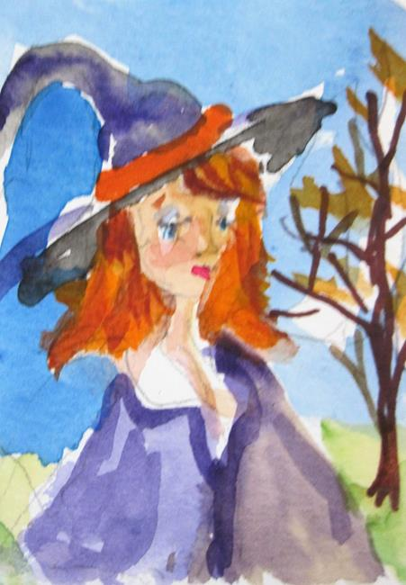 Art: Halloween Witch by Artist Delilah Smith