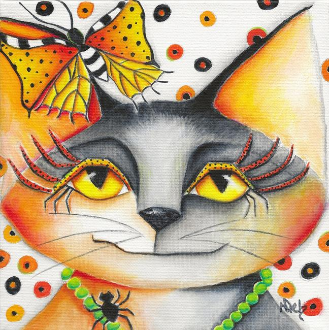 Art: Autumn Kitty by Artist Deb Harvey