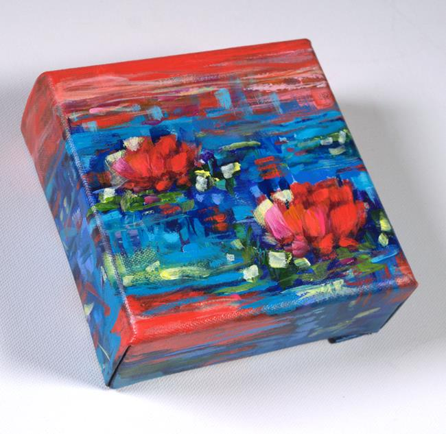 Art: Crimson Twilight - Water Lilies series (SOLD) by Artist Dana Marie