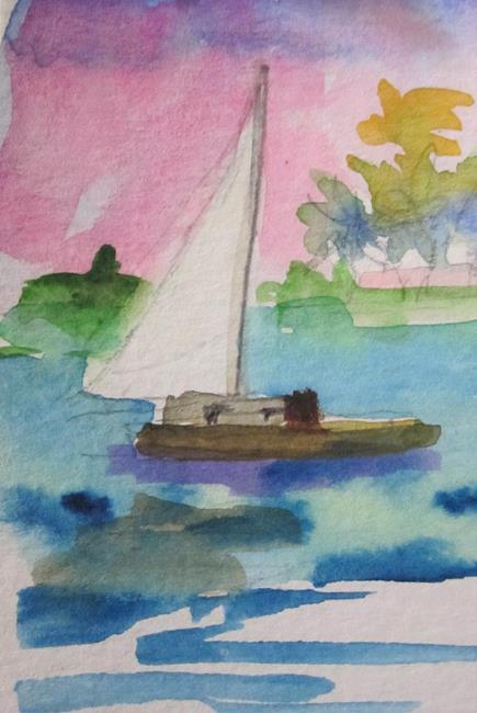 Art: Sailboat No. 16 by Artist Delilah Smith