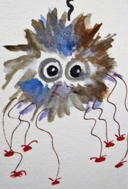 Art: Fuzzy Wuzzy Spider by Artist Delilah Smith
