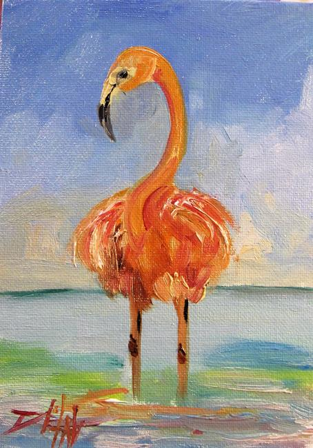 Art: Flamingo No. 25 by Artist Delilah Smith