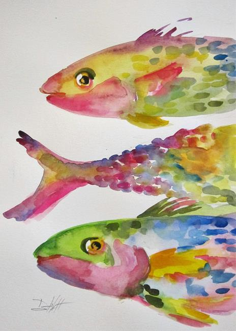 Art: A Rainbow of Fish by Artist Delilah Smith