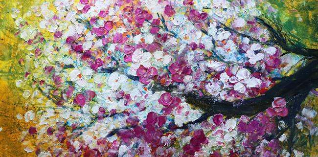Art: Flowering Bonsai by Artist LUIZA VIZOLI