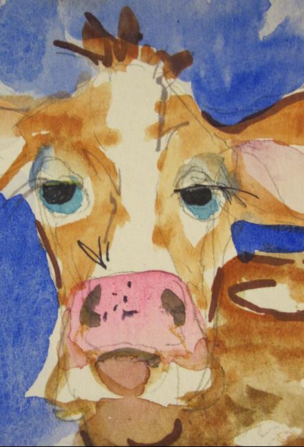 Art: Cow No. 18 by Artist Delilah Smith