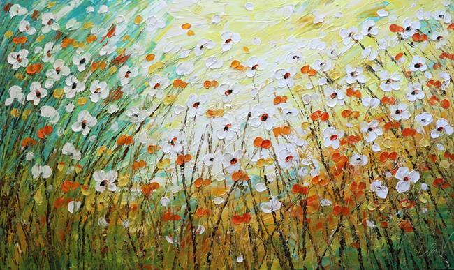 Art: DAISY FIELD by Artist LUIZA VIZOLI