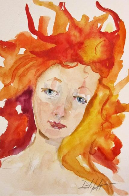 Art: Red Hair No, 2 by Artist Delilah Smith