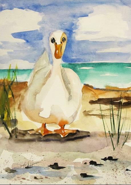 Art: Fat Duck by Artist Delilah Smith