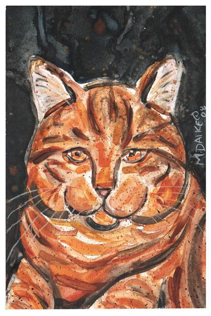 Art: Tabby Impression 1 by Artist Melinda Dalke