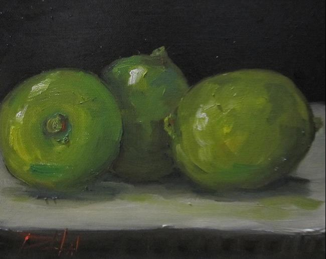 Art: Three Limes by Artist Delilah Smith