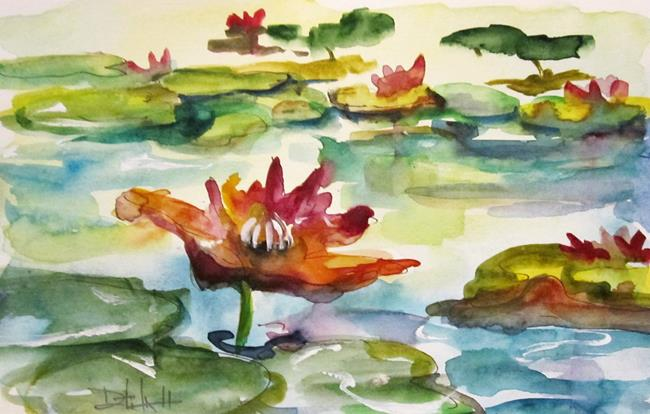 Art: Lily Pads No. 5 by Artist Delilah Smith