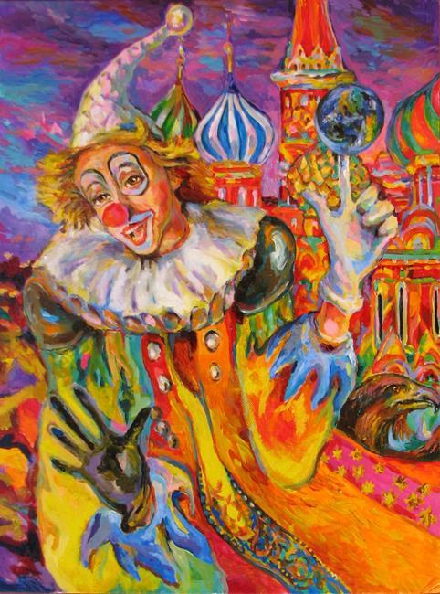 Art: Good Clown by Artist Luda Angel