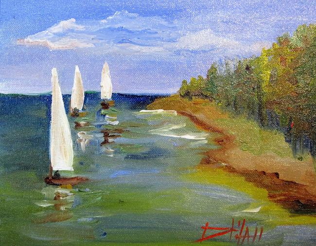 Art: Sailing No. 2 by Artist Delilah Smith