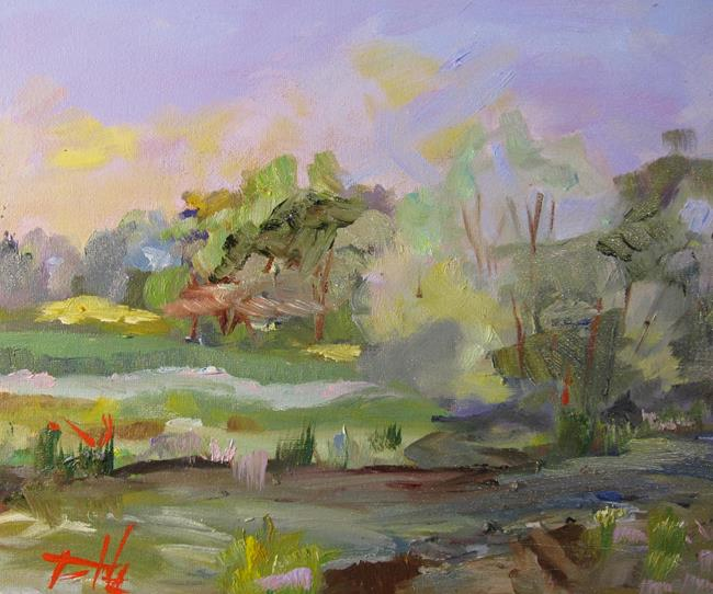 Art: Stream in the Landscape by Artist Delilah Smith