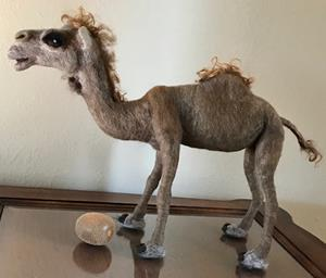Detail Image for art Needle Felted Camel