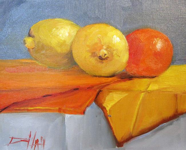 Art: Citrus Still Life by Artist Delilah Smith