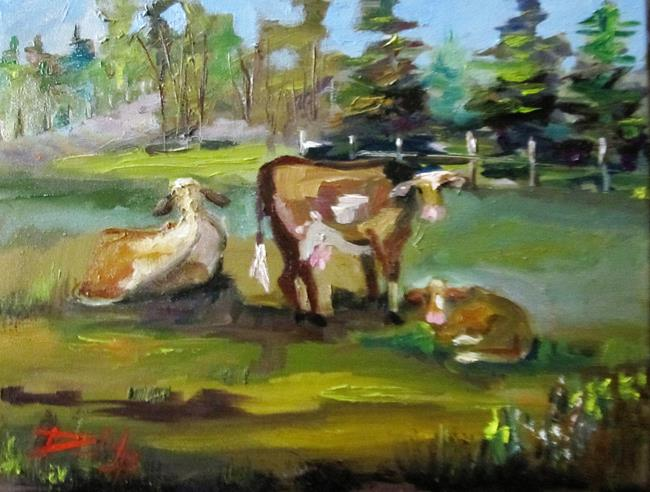 Art: Cattle No. 2 by Artist Delilah Smith