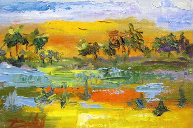 Art: Tropical Landscape by Artist Delilah Smith