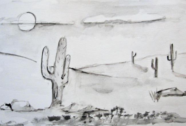 Art: Drawing 4 , Desert by Artist Delilah Smith