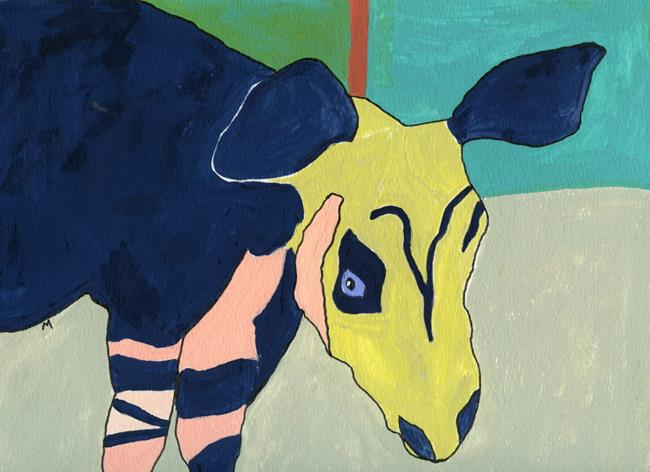 Art: Dear Okapi by Artist Gabriele Maurus