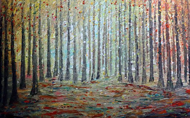 Art: Forest Meditation A New Day by Artist LUIZA VIZOLI