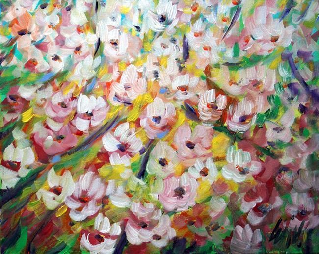 Art: Looking Up Flowers Blossom by Artist LUIZA VIZOLI