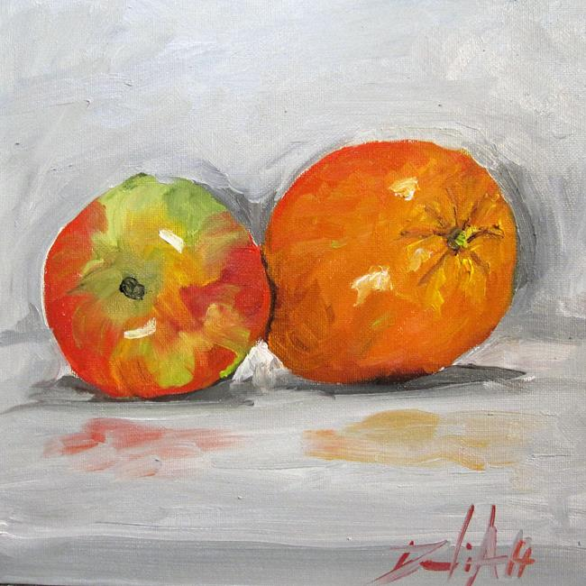 Art: Apple and Orange by Artist Delilah Smith