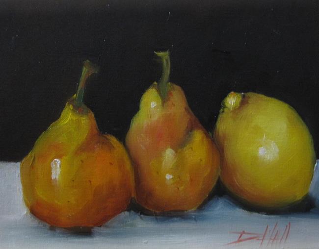 Art: Pears and Lemon by Artist Delilah Smith
