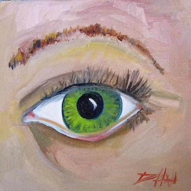 Art: Green Eye by Artist Delilah Smith