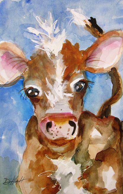 Art: Calf No. 2 by Artist Delilah Smith