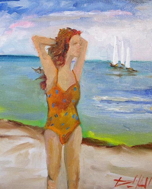 Art: Beach Diva No. 16 by Artist Delilah Smith