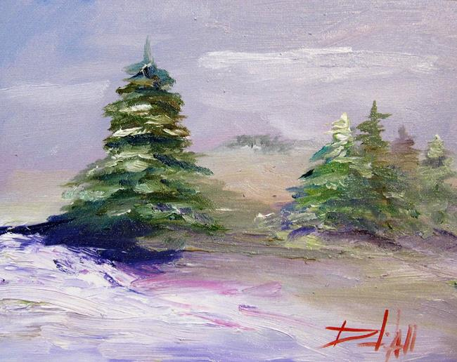 Art: Pine Trees No. 3 by Artist Delilah Smith