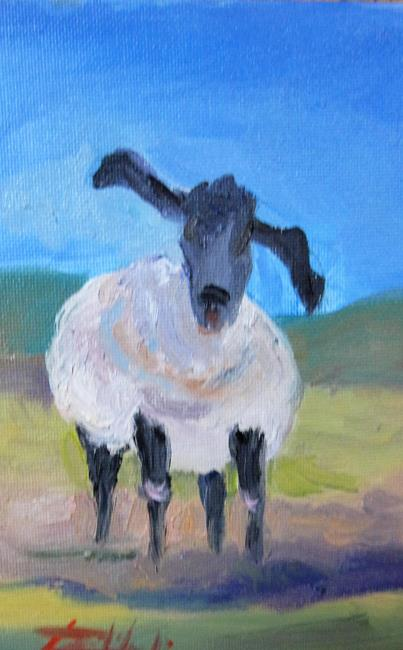 Art: Sheep No.8 by Artist Delilah Smith