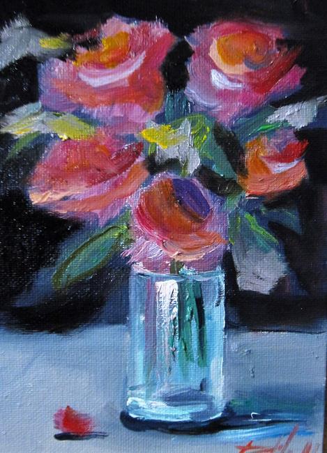 Art: Rose Still Life by Artist Delilah Smith
