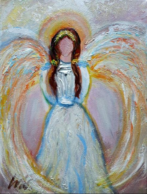 Art: Soft Angel Whispers by Artist LUIZA VIZOLI